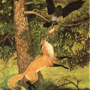 Басня Ворона и Лисица